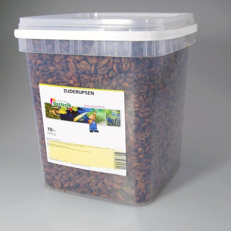 Zijderupsen 10 mm 10 liter